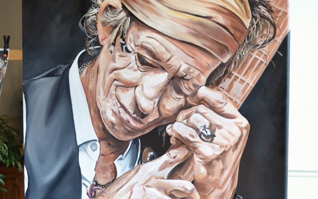 Keith Richards painting almost finished!