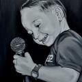 Boy Mic painting
