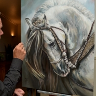 Horse painting in progress