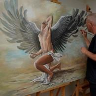 Pegasus painting in progress