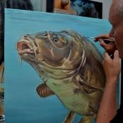 mirror carp painting wip