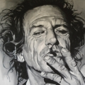 Keith Richards portrait painting