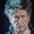 Bob Dylan portrait painting